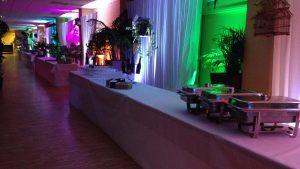 Eclairage coloré lors d'une réception