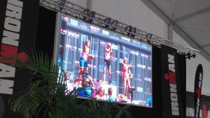 Scène + Ecran lors d'une remise des médailles