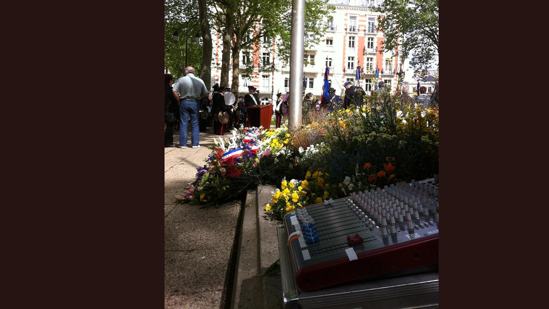 Sonorisation d'une cérémonie aux monuments aux morts