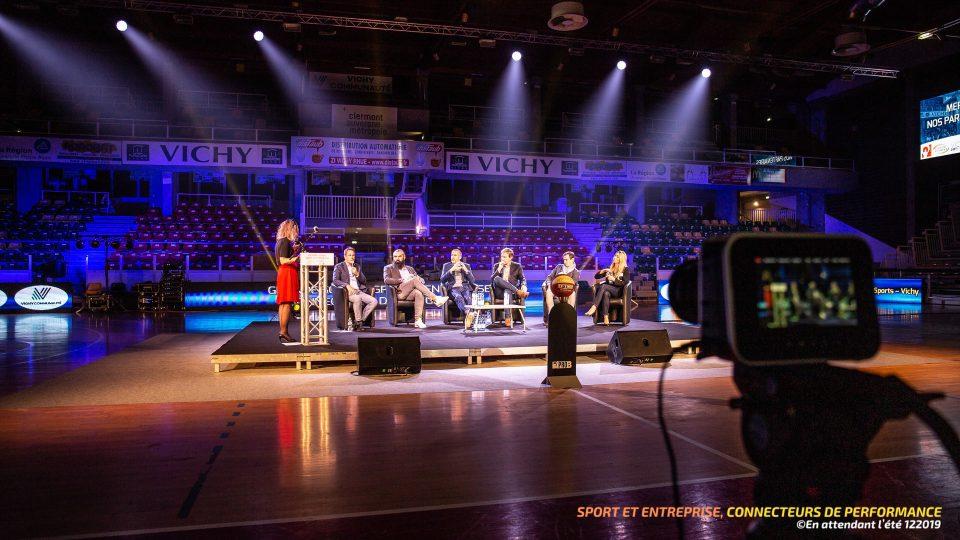 Grande soirée « Sport et Entreprise, connecteurs de performance », Vichy développement - Sonorisation, Eclairage, Captation Vidéo